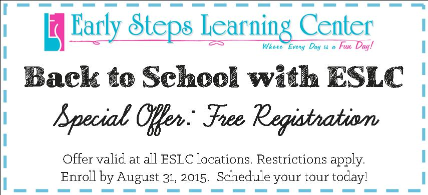 ESLC Back to School 2015 Coupon