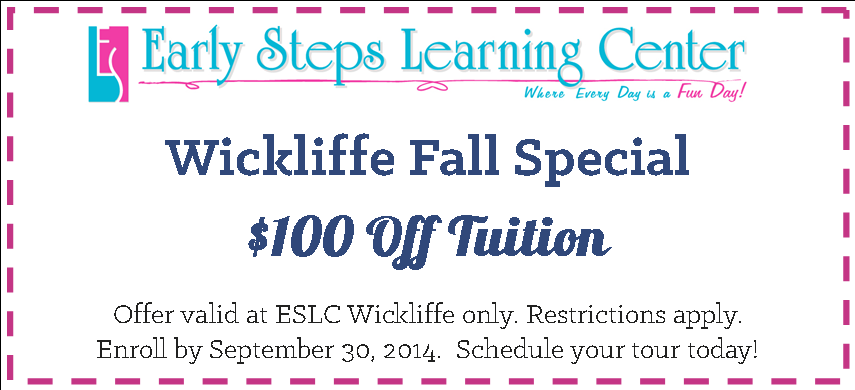 ESLC Wickliffe Fall Special 2014 Coupon
