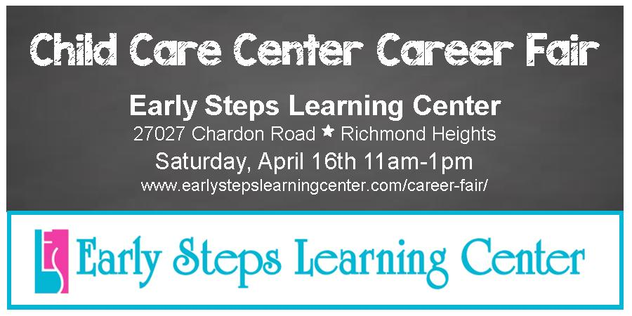 Early Steps Learning Center Career Fair image online April 2016