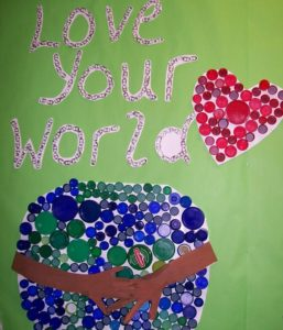 Earth Day infant and toddlers mural
