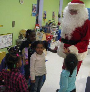 Santa visits ESLC