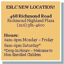 ESLC New Location 468 Richmond Road