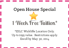 ESLC Open House Wickliffe 2014 Coupon
