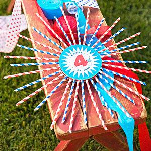 straw spangled wreath