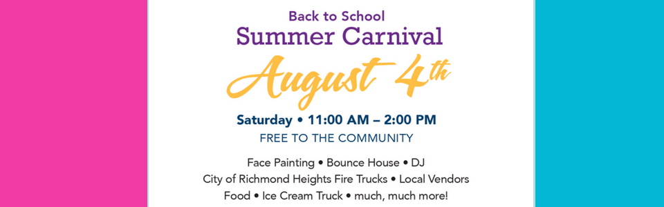 Back to School Summer Carnival